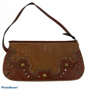 AMERICAN WEST COWGIRL TOOLED LEATHER LTD WRISTLET
